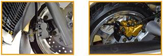 260-EFI front disc brake